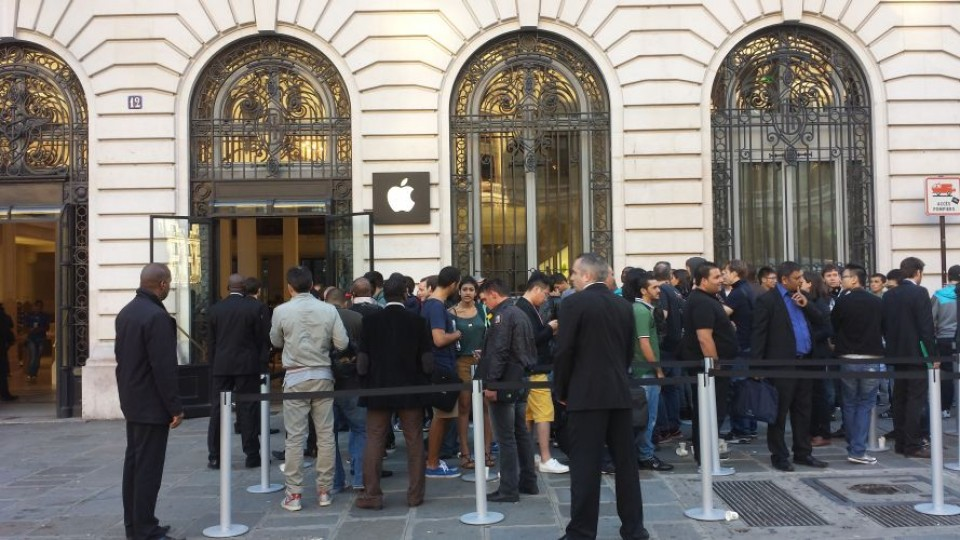 la ruée vers l'Iphone